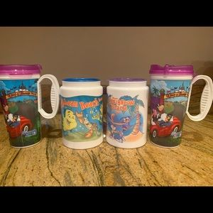 Set of 4 Disney Refillable Drink Cups